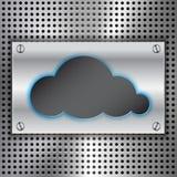 Fundo de computação do conceito da nuvem abstrata ilustração stock