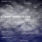 Fundo de computação do texto da nuvem Fotos de Stock