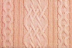 Fundo de confecção de malhas de lã decorado do teste padrão fotografia de stock royalty free
