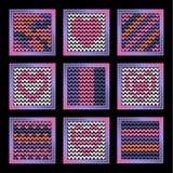 Fundo de confecção de malhas para os ícones do app Ilustração Royalty Free