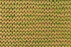 Fundo de confecção de malhas colorido feito a mão da textura Imagens de Stock Royalty Free