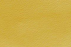 Fundo de couro amarelo da textura, fundo da textura da pele Fotos de Stock Royalty Free