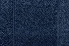 Fundo de couro azul da textura Foto de Stock Royalty Free