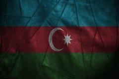 Fundo de couro com mistura da bandeira de Azerbaijão Fotografia de Stock Royalty Free