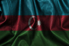 Fundo de couro com mistura da bandeira de Azerbaijão Imagem de Stock
