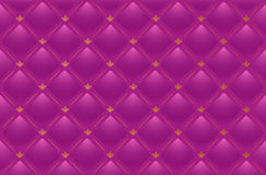 Fundo de couro cor-de-rosa do vetor Fotografia de Stock