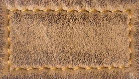 Fundo de couro da textura com costura Foto de Stock
