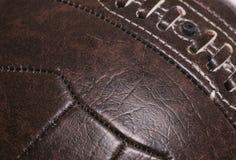 Fundo de couro do futebol do vintage Fotografia de Stock Royalty Free
