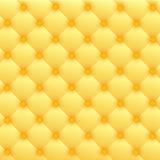 Upholstery de couro luxuoso do ouro Fotos de Stock