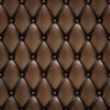 Fundo de couro luxuoso do vetor com botões Imagem de Stock Royalty Free