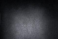 Fundo de couro preto da textura Fotografia de Stock