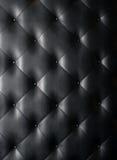 Fundo de couro preto da textura Foto de Stock Royalty Free