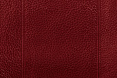 Fundo de couro vermelho da textura Fotos de Stock Royalty Free