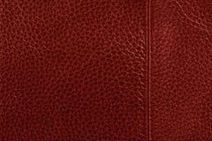 Fundo de couro vermelho da textura Foto de Stock Royalty Free