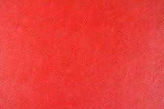 Fundo de couro vermelho da textura, fim acima da vista Foto de Stock Royalty Free