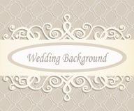 Fundo de creme do casamento Fotos de Stock Royalty Free
