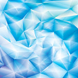Fundo de cristal azul Fotos de Stock Royalty Free