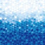 Fundo de cristal azul Teste padrão do triângulo Fundo azul de cristais geométricos da imitação das formas Estilo de Pixelated ilustração do vetor
