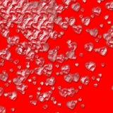 Fundo de cristal dos corações Imagens de Stock