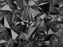 Fundo de cristal preto abstrato ilustração do vetor