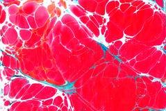 Fundo de derramamento acrílico colorido do teste padrão do ebru de mármore Fotografia de Stock Royalty Free