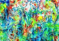 Fundo de derramamento acrílico colorido do teste padrão do ebru de mármore Imagem de Stock Royalty Free