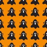 Fundo de Dia das Bruxas com fantasmas assustadores Fotos de Stock Royalty Free