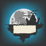 Fundo de Dia das Bruxas, ilustração do vetor para o projeto Fotografia de Stock