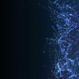 Fundo de Digitas com partículas cybernetic Fotografia de Stock