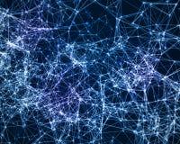 Fundo de Digitas com partículas cybernetic ilustração do vetor