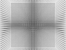 Fundo de Digitas com teste padrão invertido do quadrado da perspectiva 3d Foto de Stock Royalty Free