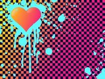 Fundo de discordância do coração do emo das cores Foto de Stock