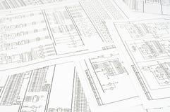 Fundo de diversos circuitos elétricos Imagens de Stock