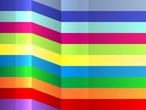 Fundo de dobra colorido das listras Imagem de Stock