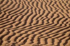 Fundo de dunas de areia Fotos de Stock Royalty Free