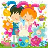 Fundo de Easter ilustração do vetor