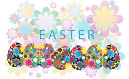 fundo de easter com flor e ovos Fotografia de Stock