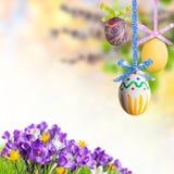 Fundo de Easter com ovos Fotos de Stock