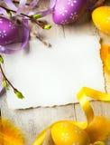 Fundo de Easter da arte com ovos de Easter Fotos de Stock Royalty Free