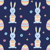 Fundo de Easter Vector o teste padrão sem emenda Ovos coloridos com flores Foto de Stock Royalty Free