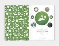 Fundo de Eco, Brochre Cubra o projeto para o inseto do folheto do folheto, informe anual Abstraia o fundo com Fundo borrado ilustração royalty free