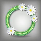 Fundo de Eco com a camomila 3d Fotografia de Stock
