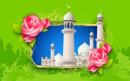 Fundo de Eid Mubarak (Eid feliz) Fotografia de Stock Royalty Free