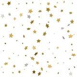 Fundo de estrelas brilhantes do ouro Ilustração do vetor Fotografia de Stock
