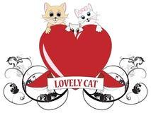 Fundo de família encantador dos gatos Fotografia de Stock