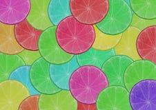 Fundo de fatias frescas do limão do montão Imagem de Stock Royalty Free