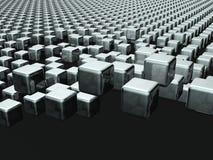 Fundo de flutuação do cubo dinâmico Imagem de Stock Royalty Free