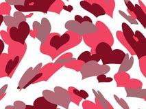 Fundo de flutuação do Valentim dos corações Fotos de Stock Royalty Free