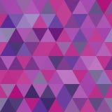 Fundo de formas geométricas Teste padrão de mosaico colorido Fundo retro do triângulo Foto de Stock Royalty Free