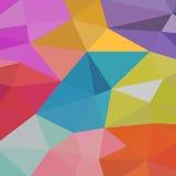 Fundo de formas geométricas Teste padrão de mosaico colorido Fundo retro do triângulo Fotos de Stock